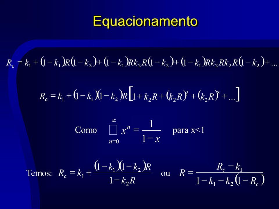 [ ] å Equacionamento ( ) ( ) ( ) x - = 1 R k - + = ... 1 + - = R k